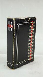 Martini Advertising Promo Bridge Playing Cards CARTA MUNDI Belgium Made Black