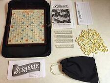 Parker Bros SCRABBLE Crossword Game Travel Edition Complete Set Case Portable