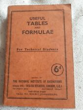 Vintage Retro Pocket Book - Useful Tables And Formulae For Technical Students