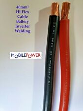 40mm² Hi Flex Battery Cable Auto lorry  Black or Red  300A 12-24v  451/0.3