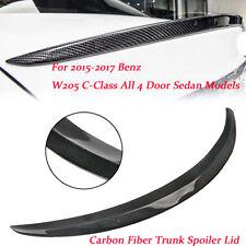 Pour Mercedes C-Class W205 C300 15-17 Aileron Becquet Spoiler  fibre de carbone