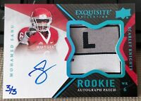 2012 Exquisite Collection Mohamed Sanu RC Auto Patch #139 #3/3