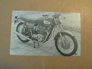 MOTORCYCLE PICTURE STAMP ALBUM CARD TRIUMPH TRIDENT UK VINTAGE BIKE NO 67