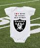 Oakland Raiders Onesie Bodysuit Shirt Love To Watch With Grandpa