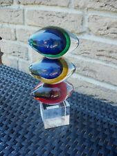 """Casablanca Design Glasskulptur """"stones"""" Blau/grün/rot 27058 Geschenk Top"""