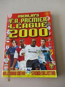 Merlin FA Premier League 2000 Incomplete Album 524/540 95% Complete