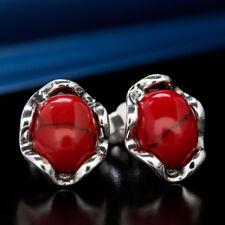 Koralle Silber 925 Ohrringe Damen Schmuck Sterlingsilber S545