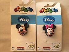 Authentic Crocs Jibbitz Shoe Charms 3D Mickey & Minnie Mouse NIP