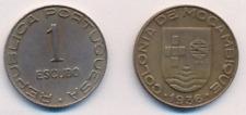 Münze Mosambik  1 Escudo 1936