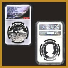 Canada 20 Dollars Silver Coin, 2015 Largemouth Bass NGC PF 70 Early Releases