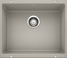 "BLANCO 442772 Precis 20.88"" L x 18.13"" W Undermount Kitchen Sink CONCRETE GRAY"