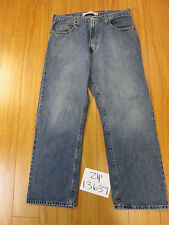 levi 559 relaxed straight grunge jean tag 36x30 meas 35x30 zip13639