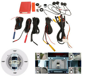 8 In 1 Car Panorama Parking System 360 Degree HD 4 Camera Surround Night Vision