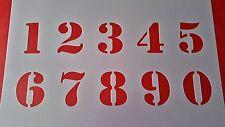 24 Schablonen Zahlen 1 - 0 Wandtattoos Vintage Tattoo Schablonen Shabby Stencil