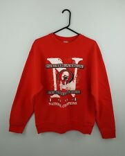 VTG MENS RED USA PRO COLLEGE ATHLETIC SPORTS OVERHEAD SWEATSHIRT JUMPER UK M/L