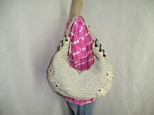 GORGEOUS! ISABELLA FIORE OVERSIZED Woven Shoulder bag / tote / hobo / satchel