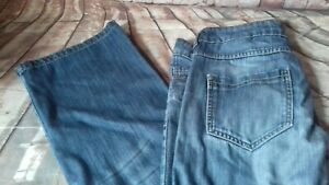 next boyfriend jeans size 12 across the waist 17 inche leg 33 flare