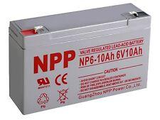 NPP 6V 10Ah Rechargeable SLA Battery Replaces Yuasa NP10-6, KMG-10-6