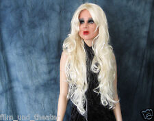 Bundle: DIVA MASK +LASHES +XL-CURLS WIG Female Latex Living Doll Face Trans Gum