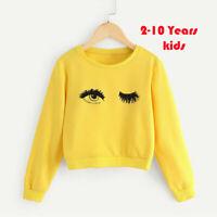 Toddler Teen Kids Girl Cartoon Print Long Sleeve Tops Sweatshirt Pullover Blouse