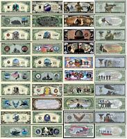 US Military Set of 20 - Million Dollar Bill Funny Money Notes with FREE SLEEVES