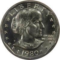 1980 S Susan B Anthony Dollar BU Uncirculated Mint State SBA $1 US Coin
