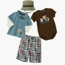 NWT Gymboree DOG GONE CUTE Outfit 3-6 Months POLO TOP,BODYSUIT,SHORTS, HAT