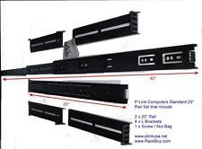 """Black(Rackmount Chassis) IPC(20""""-26"""")(Slide Rail Kit Set)(Cabinet/Open-Rack) NEW"""