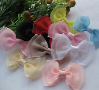 20pcs Fancy Organza Ribbon Bow Flower wedding baby doll appliques Lots Upick