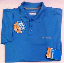 Columbia Sportswear New Utilizer Polo  BIG  Blue  1X [STK#2-6215] Free US ship