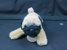 """Russ Yomiko Classics Brown Tan Pug Laying Down Plush Stuffed Animal Toy 10"""""""