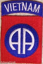 Embroidered Military Patch U S Army 82nd Airborne Vietnam New with tab