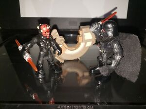 Star Wars Vader vs Maul in the Brawl for it All! Action Figures Playskool  2011
