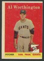 1958 Topps #427 Al Worthington EX/EX+ Giants 24341