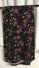 LuLaRoe Maxi Skirt Size Medium Black Background Floral