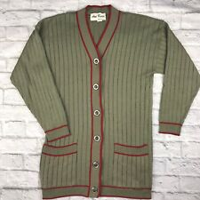 Vintage Cardigan Sweater Womens Size 8 Christmas Holiday Usa Green Red