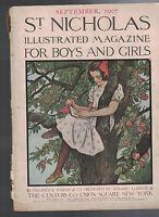 St Nicholas Magazine September 1907 Walter Camp Carolyn Walls Harrison Cady