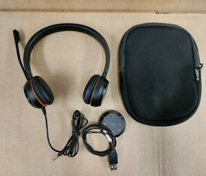 Jabra Evolve 30 Stereo Wired Headset HSC060 w/ ENC060 USB Adapter Control Unit