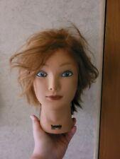 Beautician practice girl head