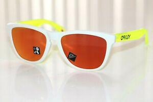 Oakley Frogskins Sunglasses OO9013-I355 Matte White/Uranium W/ PRIZM Ruby Lens