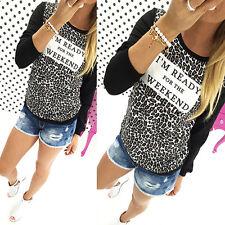 Womens Long Sleeve Casual Sweatshirt Jumper Tops  Hoodie Pullover T-shirts