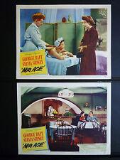 1946 MR. ACE - 4 LOBBY CARDS - GEORGE RAFT + SYLVIA SIDNEY - CRIME DRAMA