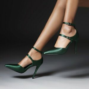 Women's Pointed Toe Sandals High Heels Ankle Strap Fashion Buckle Shoes Clubwear