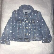 Pre-Owned Baby Gap Girl Jean Polka-Dot Jacket Size 18-24 Months