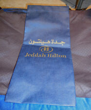 JEDDAH HILTON HOTEL SHOE BAG ROOM PROMO NAVY & GOLD-PRINT WRIST STRAP