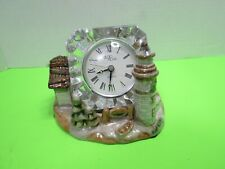 Studio Nova Crystal Mikasa Clock Sitting In Porcelain Town Village Needs Battery