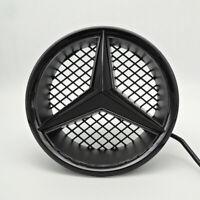 Black For Mercedes Benz Led Front Star Grille Emblem Logo DRL Light Snap Type