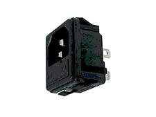 Fiche Prises Secteur 3 Broche Mâle CHASSIS 220 Volt avec Porte Fusible CLIPSABLE
