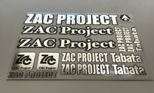 1/10 - 1/8 DECAL/STICKER SHEET -RC/MODEL CAR-Tamiya/HPI/decals/ZAC PROJECT