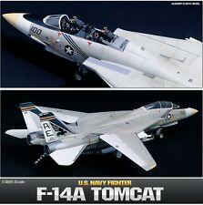 Academy 1/48 Scale Plastic Model Kit F-14A Tomcat US Navy Fighter NIB 12253